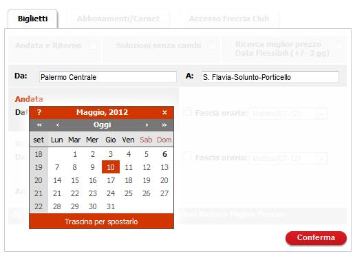 Sizilien - Fahrplan-Auskunft der Trenitalia