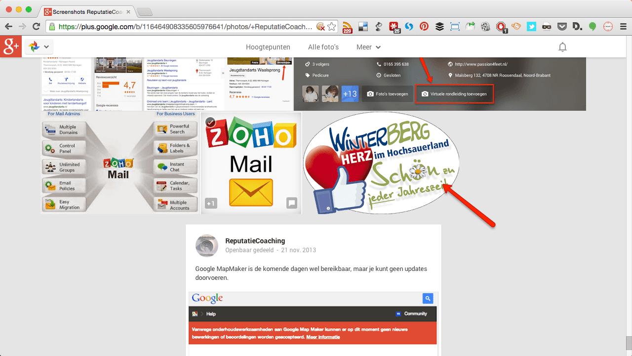 Selecteer afbeelding in Google+