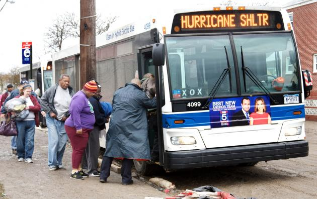 Transit buses pressed into service for storm response