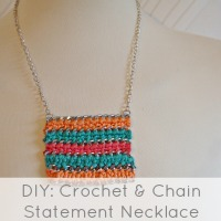 crochet statement necklace