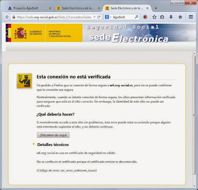 El error sec_error_unknown_issuer se produce al intentar acceder mediante Mozilla Firefox