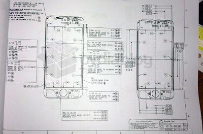 iPhone5 フロントパネルの設計図?