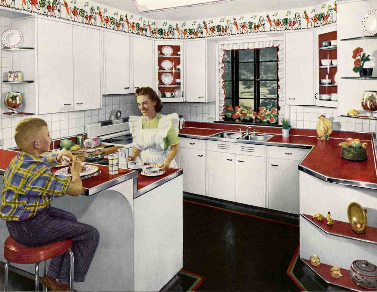 1950s Retro Kitchen