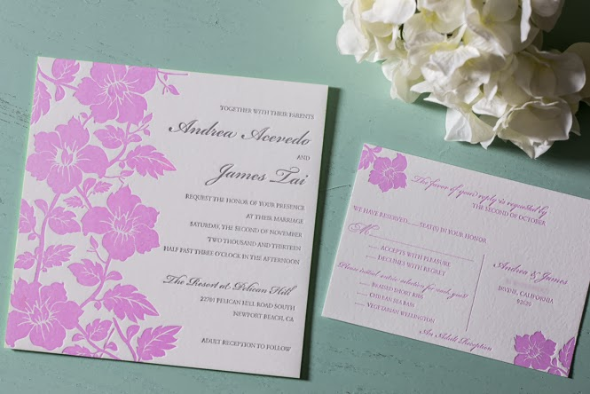 letterpress invitations: Andrea + James