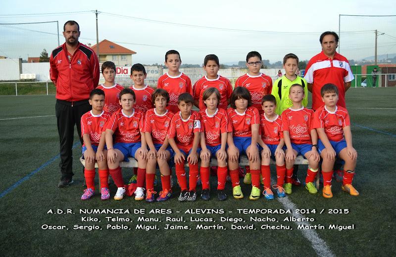 Numancia de Ares. Equipo Alevín Temporada 2014-2015