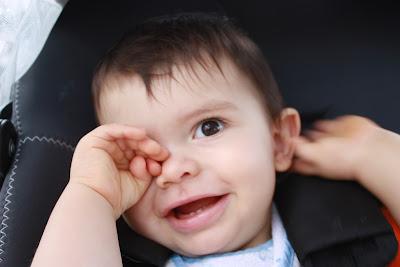 Os dois dentinhos do Guilherme - 11 meses