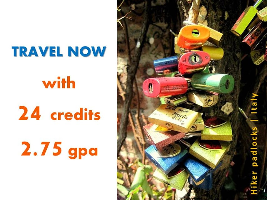 travel now with 24 credits