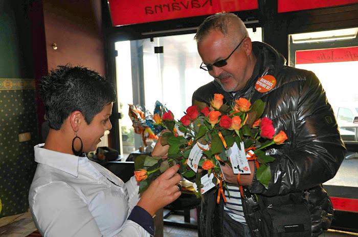 Rozdávání růží