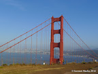 Golden Gate Bridge seen from Battery Spencer