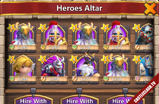 Sell Account Castle clash have Cupid - Druid - Thunder god