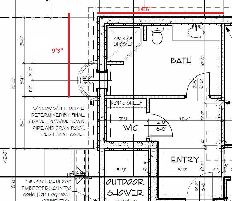 walk in shower plumbing diagram
