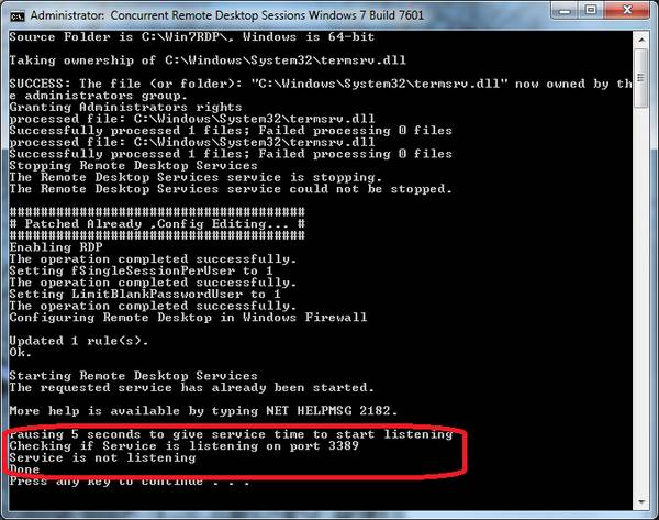How to Enable Concurrent Sessions in Windows 7 Service Pack 1 RTM