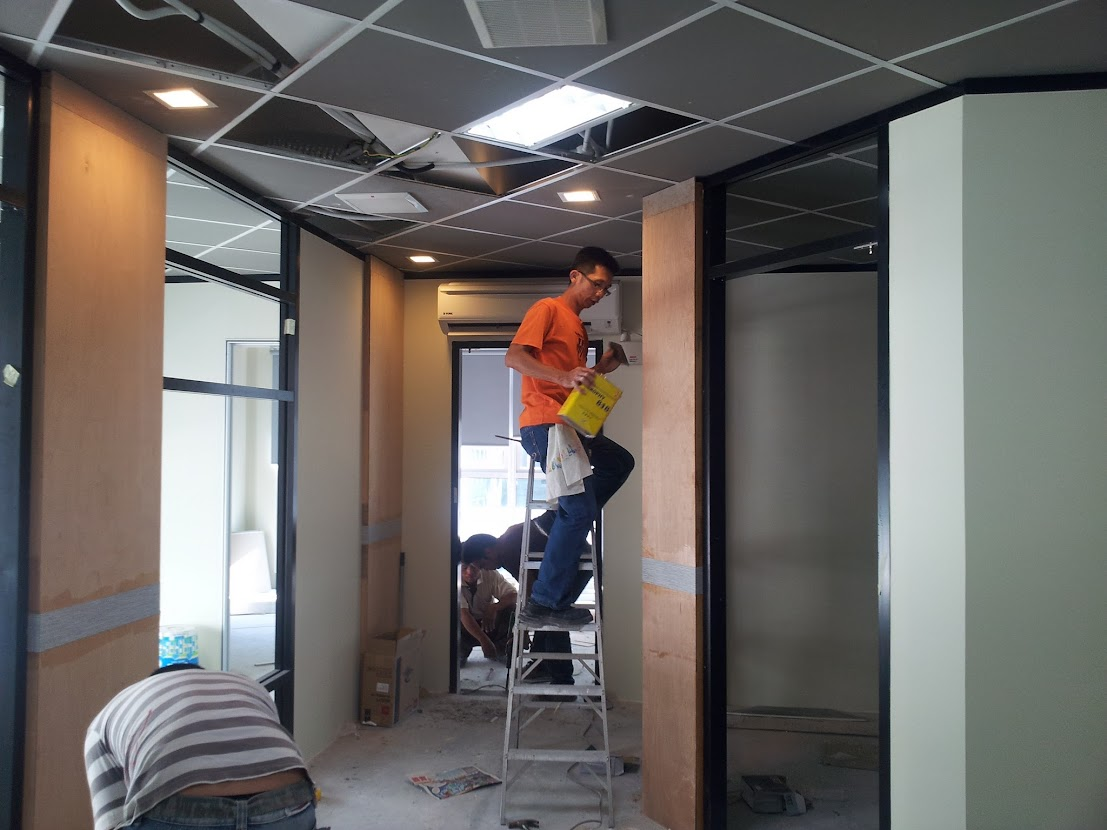 install wooden panel
