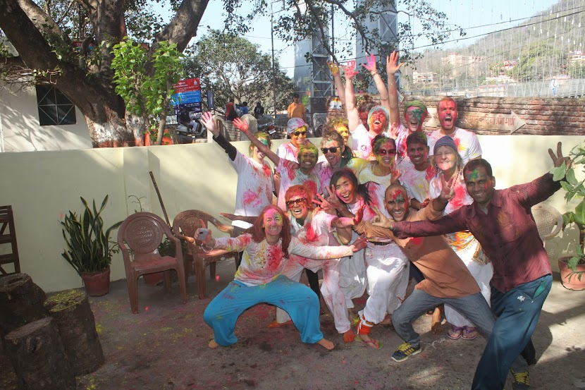Holi (the festival of colors) Celebration at Nada Yoga School
