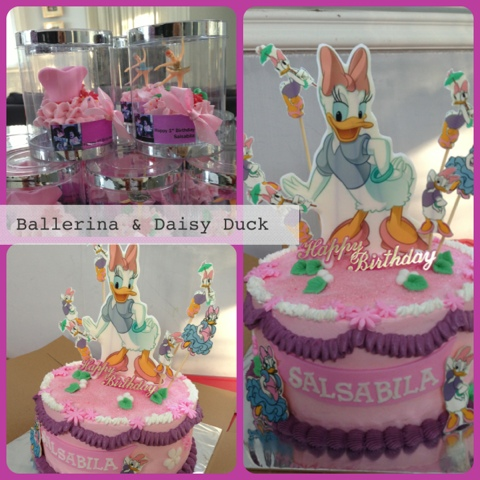 Fabulous Mimims Cupcake Daisy Duck Cake And Ballerina Cupcake Personalised Birthday Cards Paralily Jamesorg