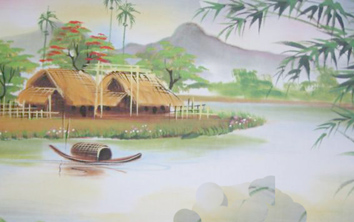 Ảnh con đò trên sông