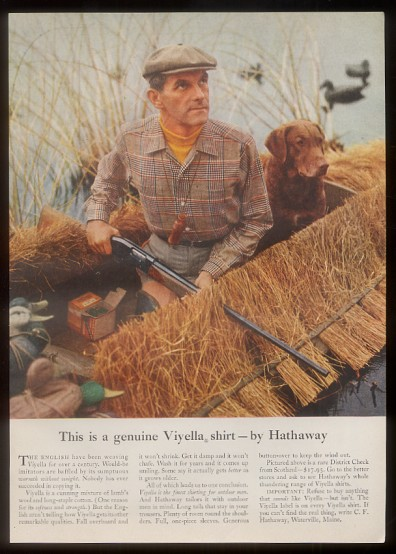 An Interesting Fifties Vintage Clothing Ad Featuring A Chesapeake Bay Retriever Sneak Boat And One Seriously Dapper Dude The Hunters Steely Eyed Gaze
