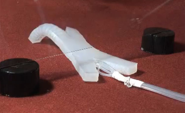 Multi-Gait Soft Robots Powered by Air
