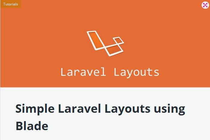 laravel tutorial layout