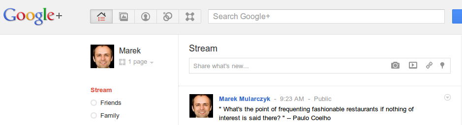 Marek Mularczyk on Google+