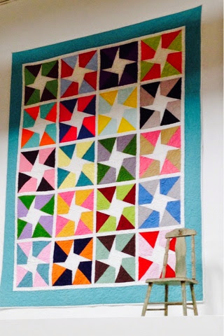 solid colors used in a quilt