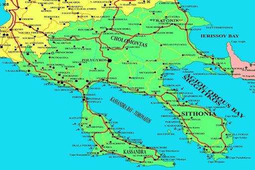 Best of Greece: MAP OF HALKIDIKI HALKIDIKI TRAVEL TO GREECE ...