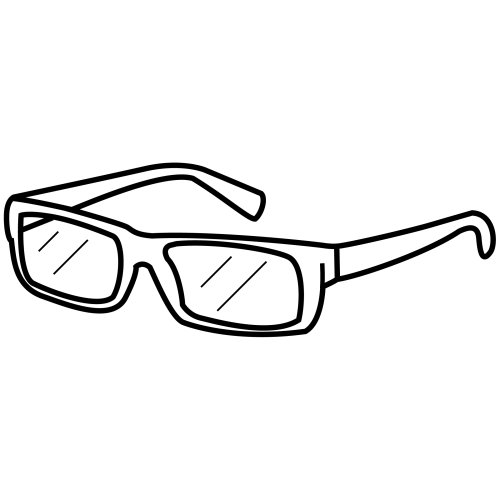 Eye glass, free coloring pages