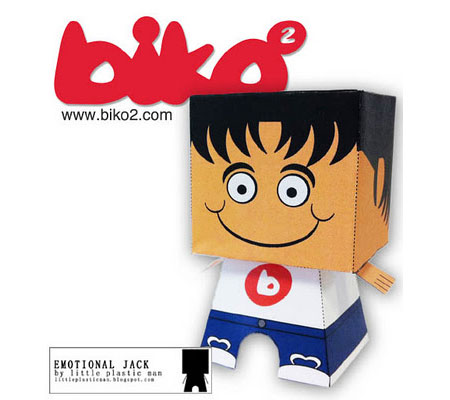 Emotional Jack Biko2 Paper Toy