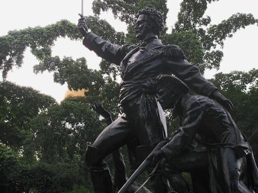 Estatua de Jose Felix Ribas en La Victoria, Aragua, Venezuela