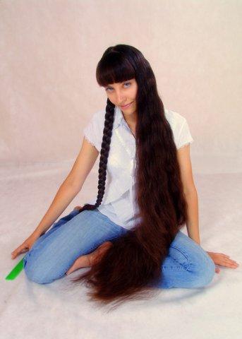 floor length hair Rapunzel model braiding braids Long hair pictures images photos