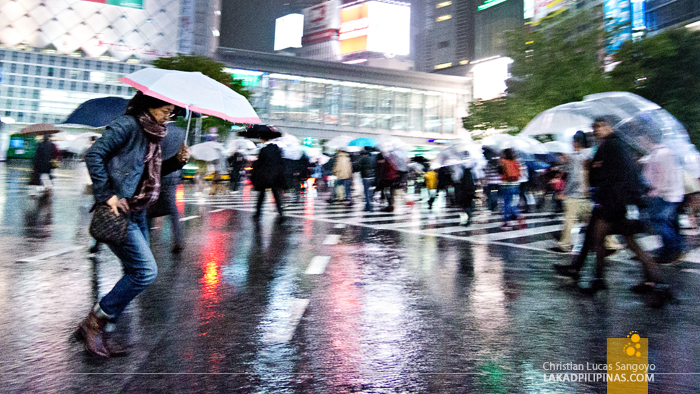 Rushing Through at Tokyo's Shibuya Crossing