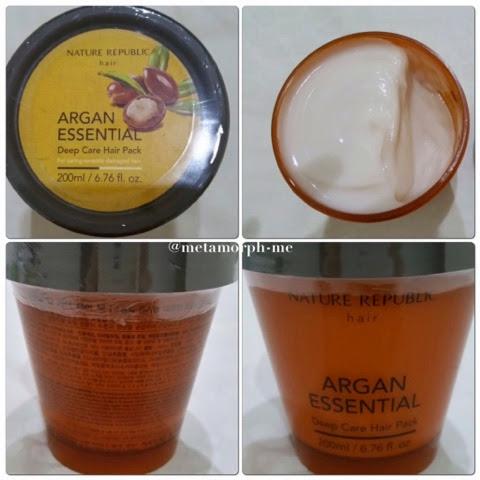 Nature Republic Argan Essential Deep Care Hair Pack Instructions