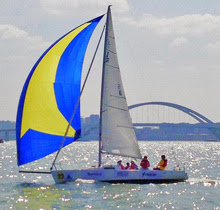 J/80 sailing  Xiamen in the China Club Cup