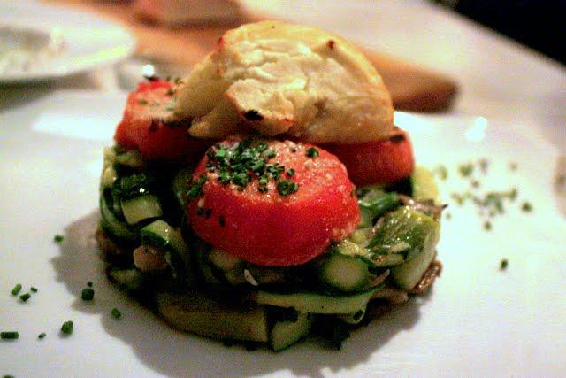 Dinner at Taboon restaurant in New York City