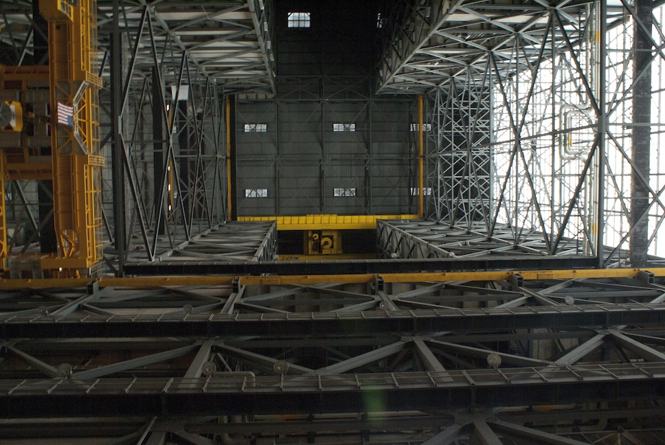 Inside the VAB - looking up