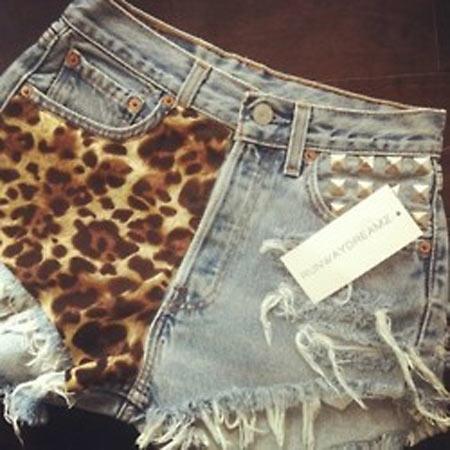 Inspiração: oncinha - shorts customizado