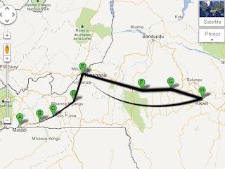 Le tracé de la première édition du Tour du Congo de cyclisme