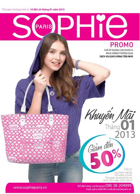 Sophie khuyến mại 50% tháng 01/2013