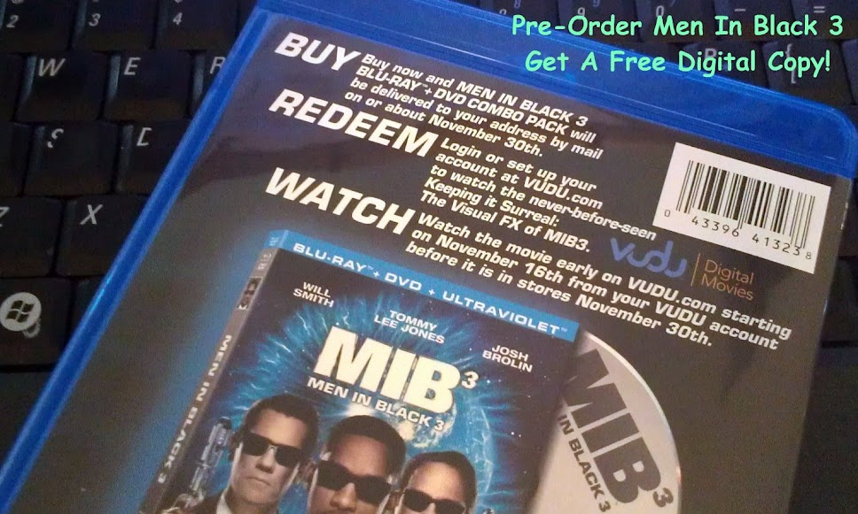 Men In Black 3 DVD/Blu-Ray/Digital Combo #SEEMIB3