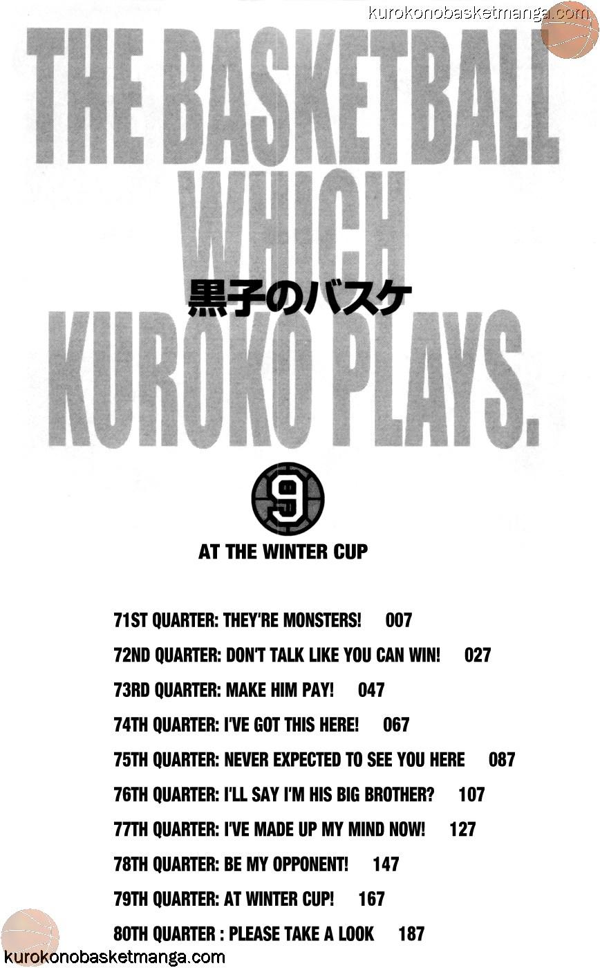 Kuroko no Basket Manga Chapter 71 - Image 04