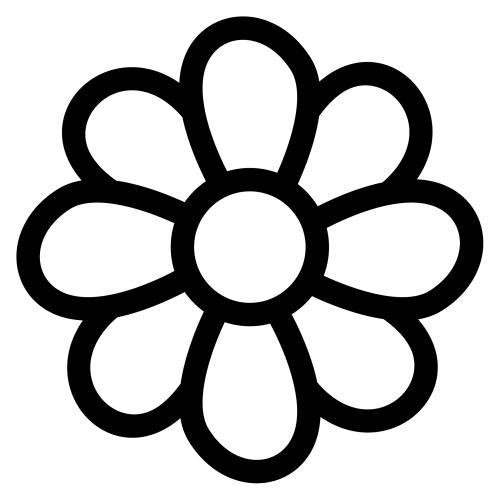 pinto dibujos colorear molde para flor 2
