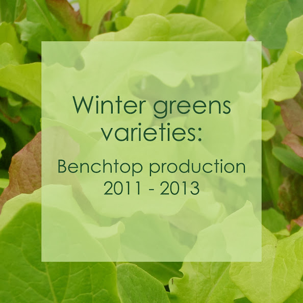 Varieties of salad greens