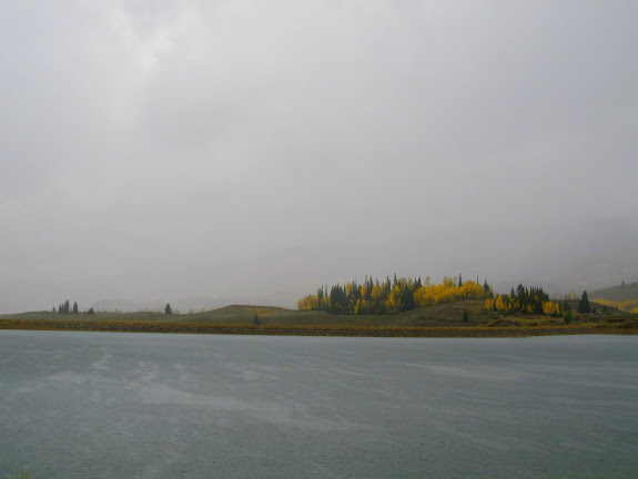 Rain and wind at Cleveland Reservoir