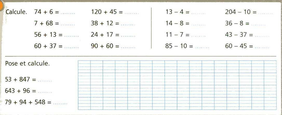 La classe de mme c evaluations 3 me p riode - Soustraction ce2 a imprimer ...