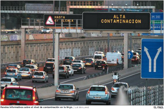 Alerta por contaminación por Dióxido de Nitrógeno, 22 de octubre