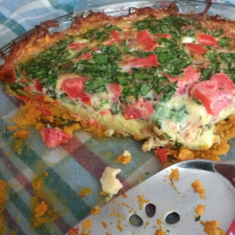 Sweet Potato Crusted-Quiche