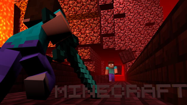 Minecraft Herobrine Vs Steve Wallpaper Cover photo