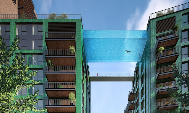sky swimming pool