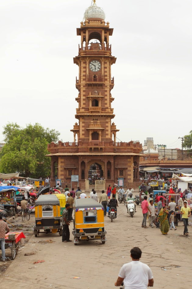 The centrally ghanta ghar of Jodhpur