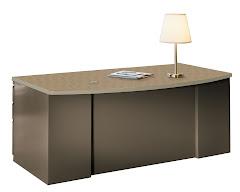 "CSII 39""D Bow Front Desks, 60""W x 39""D x 29""H, 1 B/B/F ped"